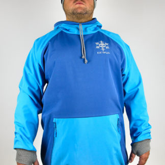 IceSkull Ezy Rider Snowboard Softshell Technical Hoodie Blue & Sky Blue