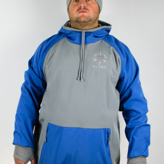 IceSkull Ezy Rider Snowboard Softshell Technical Hoodie Gray & Blue