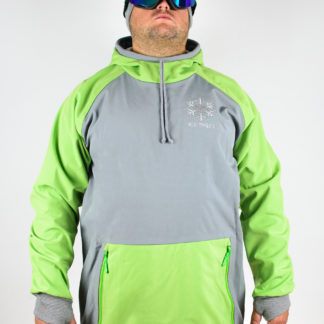 IceSkull Ezy Rider Snowboard Softshell Technical Hoodie Gray & Green
