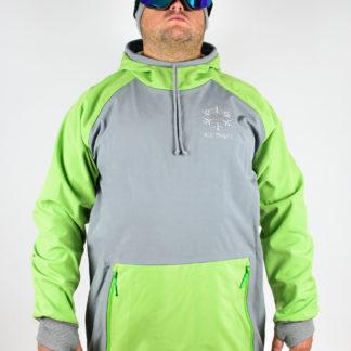 IceSkull Ezy Rider Snowboard Softshell Technical Hoodie Gray & Green