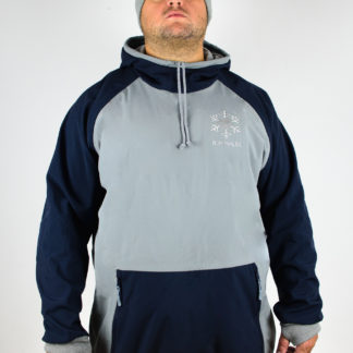 IceSkull Ezy Rider Snowboard Softshell Technical Hoodie Gray & Navy Blue