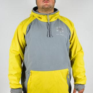 IceSkull Ezy Rider Snowboard Softshell Technical Hoodie Gray & Yellow