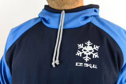 IceSkull Ezy Rider Snowboard Softshell Technical Hoodie Navy & Blue