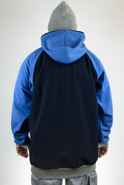 IceSkull Ezy Rider Snowboard Softshell Technical Hoodie Navy & Blue Back