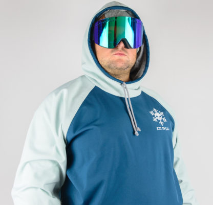 IceSkull Ezy Rider Snowboard Softshell Technical Hoodie Sea Blue & Mint