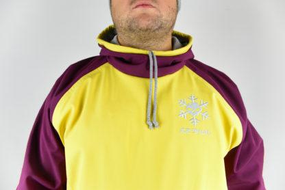 IceSkull Ezy Rider Snowboard Softshell Technical Hoodie Yellow & Maroon