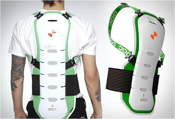 Snowboarding back protector from POC
